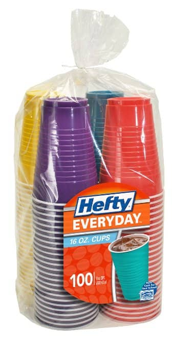 Prime Members: 100-Ct of 16oz Hefty Assorted Colors Party Cups  $5 + Free Shipping