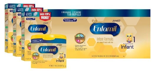 Amazon.com Enfamil Infant Baby Formula - 121.8oz Powder Combo Pack for $83.40 with 5% S&S