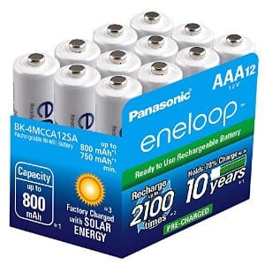 12-Pack Panasonic Eneloop AAA Ni-MH Rechargeable Batteries  $20 + Free Shipping