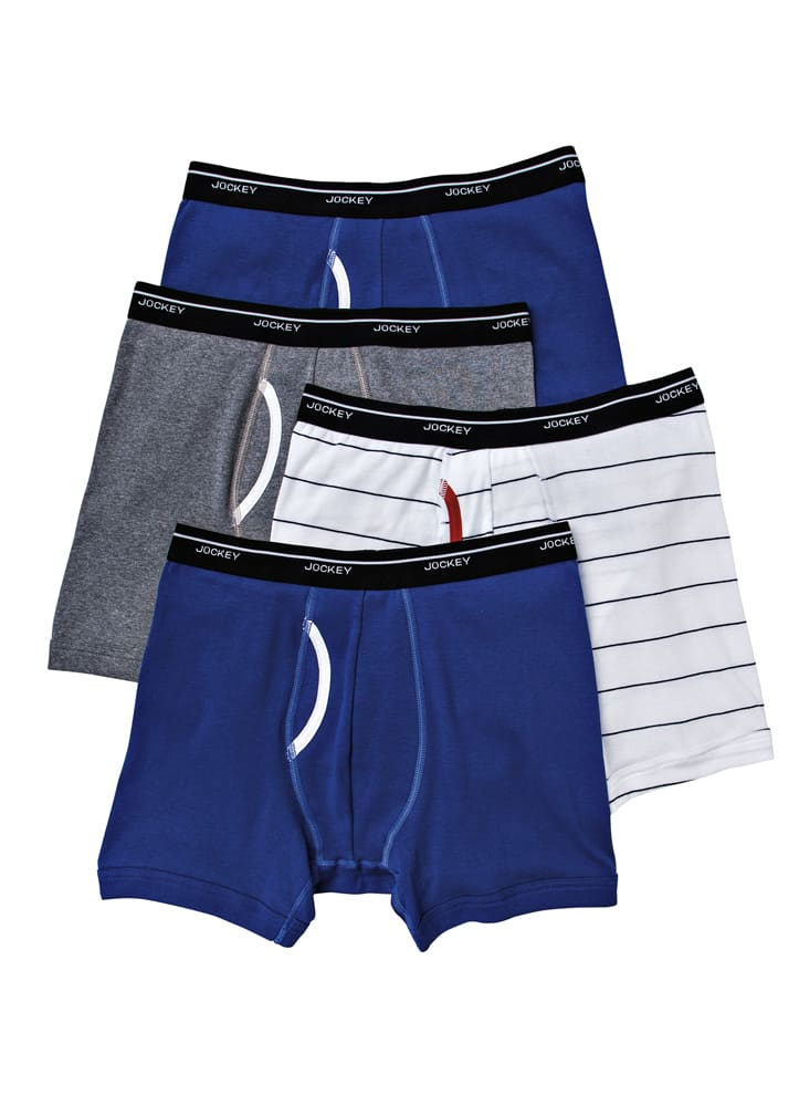 4-Pack Jockey Mens Low-rise Boxer Brief $10 + Free Shipping!