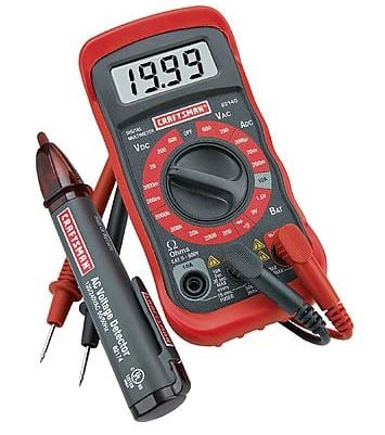 Craftsman Digital Multimeter with AC Voltage Detector $13.59 (reg $38.99) Sears