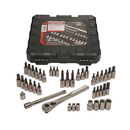 "42-Piece Craftsman 1/4"" and 3/8"" Drive Bit & Torx Bit Socket Wrench Set $24.69 + Free Store Pickup ~ Sears"