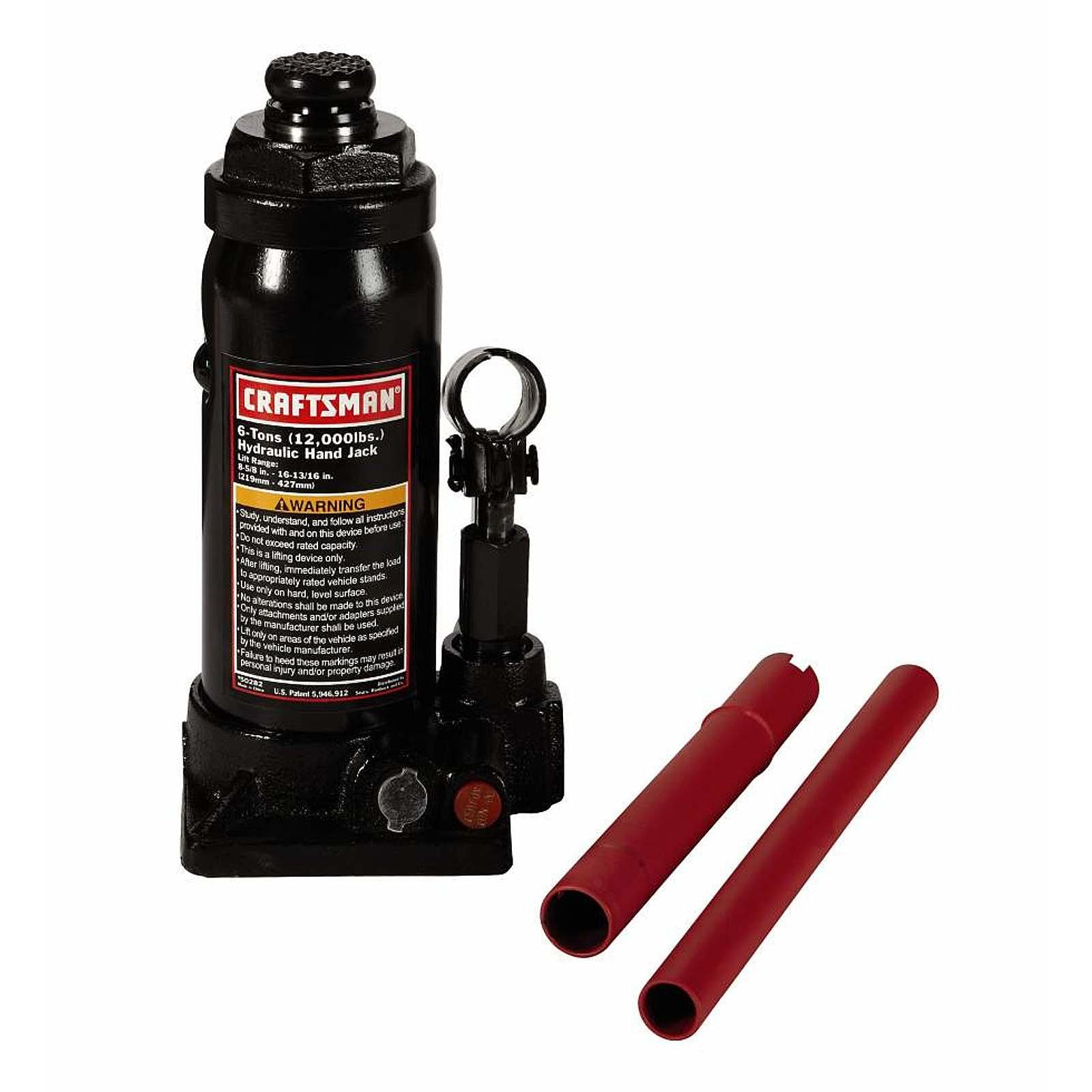 Craftsman 6-Ton Hydraulic Bottle Jack $12.09 + Free Store Pickup ~ Sears