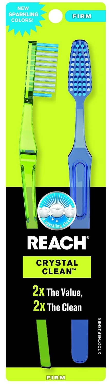 2-Count Reach Crystal Clean Firm Value Pack Adult Toothbrushes $1.33 or Less + Free Shipping Amazon.com