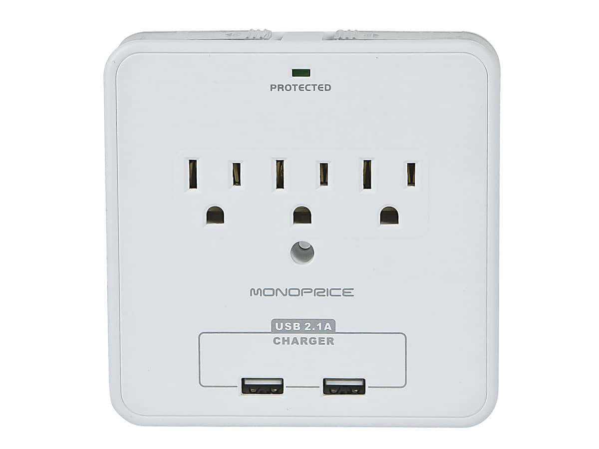 Monoprice 6-Outlet 540J Slim Surge Protector Wall Tap  $6.40 & More + Free Shipping