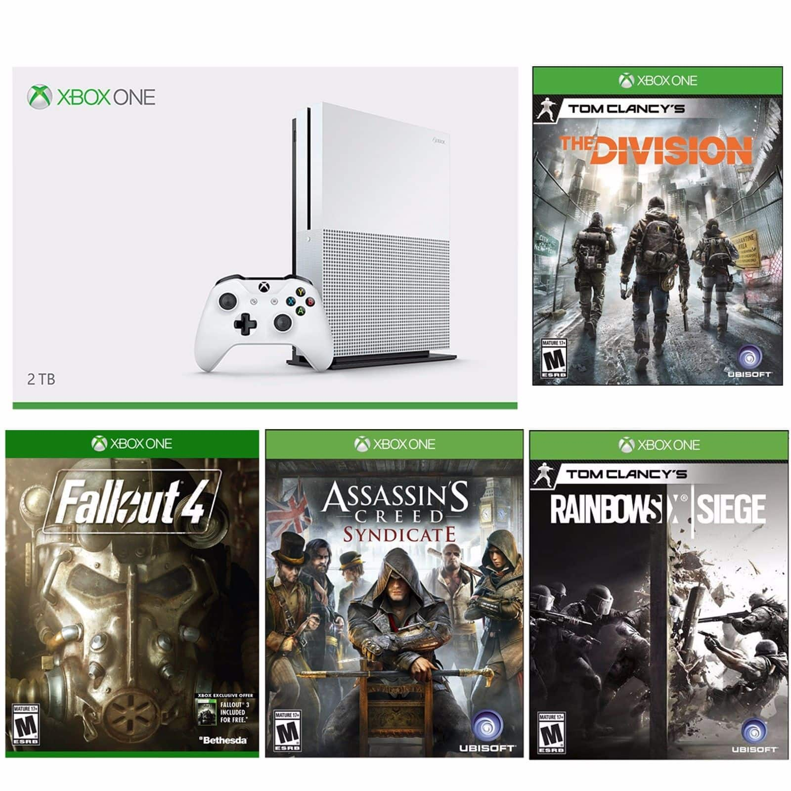 *LIVE* Xbox One S 2TB Console Launch Edition + Tom Clancy's Division + AC Syndicate + Fallout 4 + Six Siege for $400 + Free Shipping (eBay Daily Deal)
