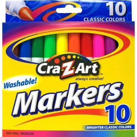 Cra-Z-Art Washable Markers 10 Count $0.50 Walmart