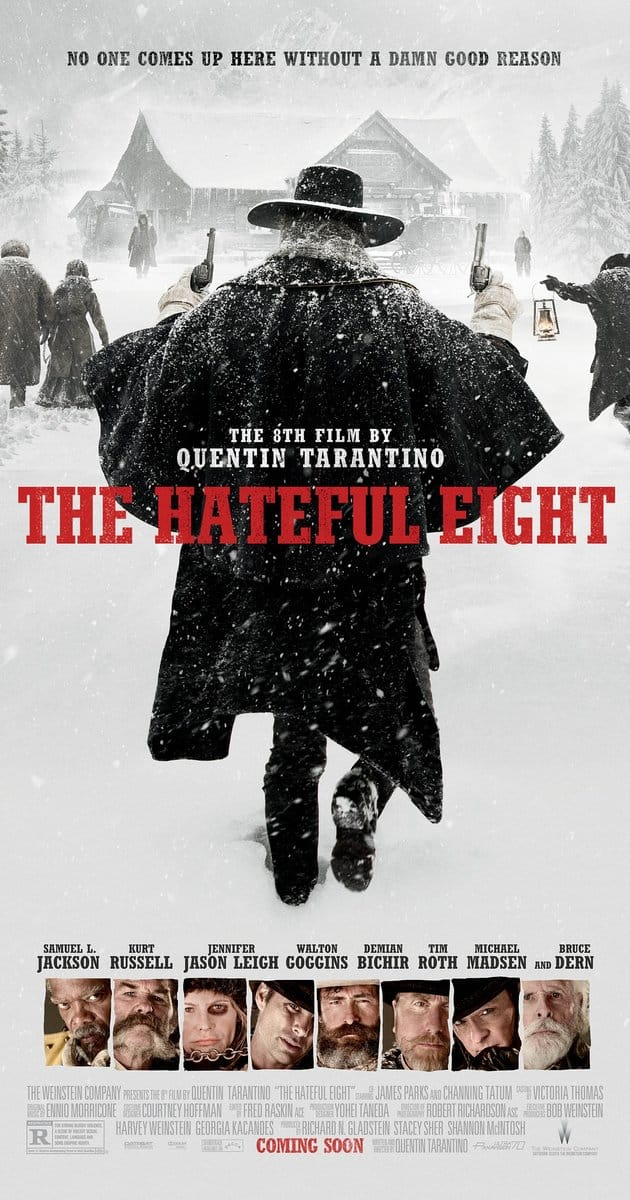 The Hateful Eight (2015 - Quentin Tarantino) ~ $1 HD rental @ iTunes, Amazon Video or the Microsoft Store