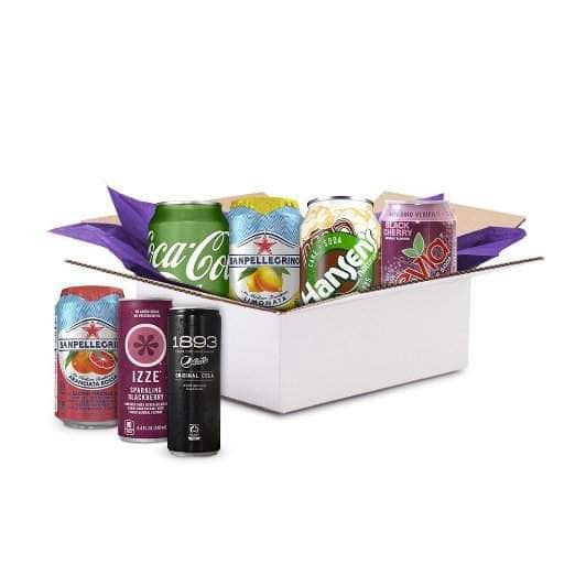 Sparkling Soda Sample Box (6+ Samples + $4.99 credit for future purchase) for  $4.99 + Free shipping (prime only)