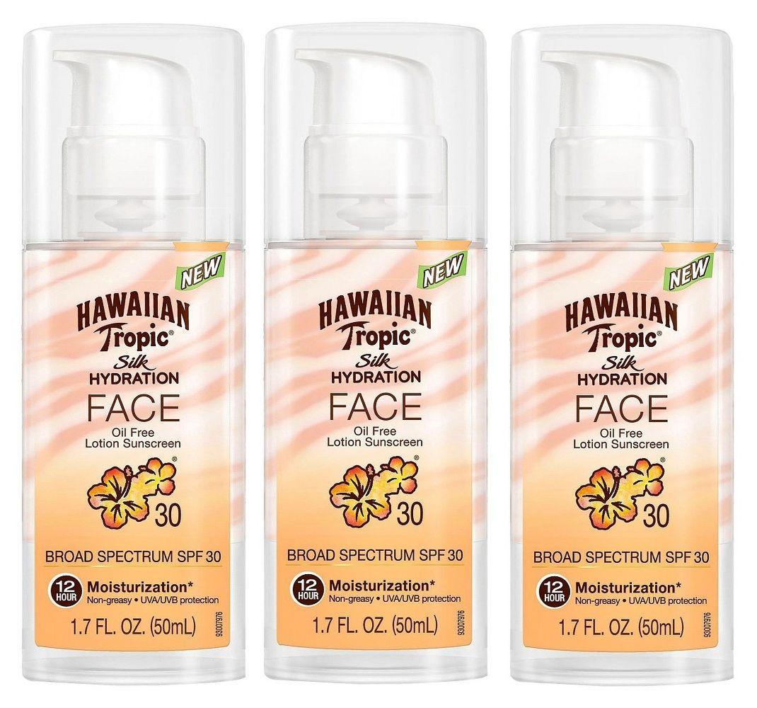 1.7oz Hawaiian Tropic Silk Hydration SPF 30 Face Lotion  3 for $17 + Free Shipping