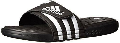 Adidas Men's Adissage Slide Sandal (Black/White)  $13