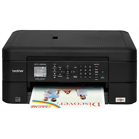 Brother MFC-J480DW Wireless Color Inkjet All-In-One Printer w/ Scanner, Copier & Fax  $50 + Free Store Pickup