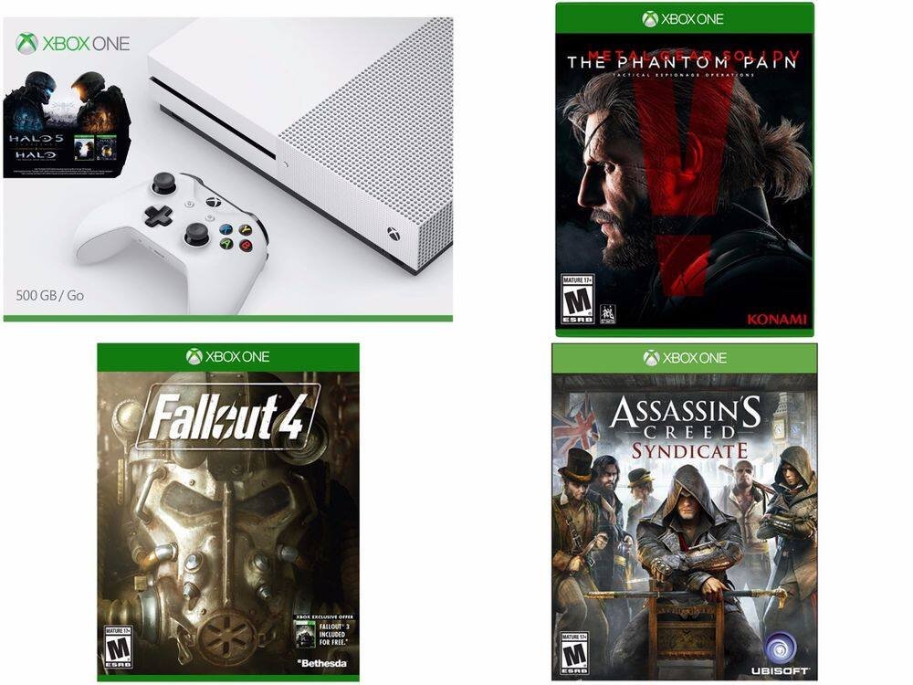 500GB Xbox One S Halo Collection Console + AC Syndicate + Fallout 4 + Metal Gear  $329 + Free Shipping