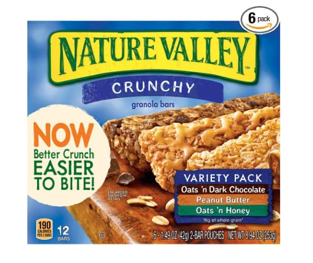 72-Ct of 1.49oz Nature Valley Crunchy Granola Bar (Variety Pack)  $13 + Free Shipping