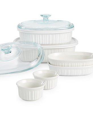 10-Piece Corningware French White Bakeware Set $25.50 + free store pickup at Macys or free ship at $50