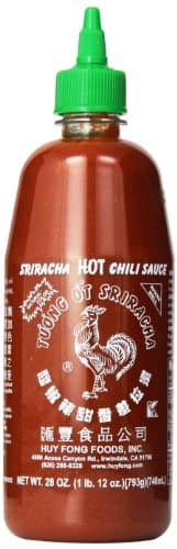 Huy Fong sriracha chili sauce, 28 oz (pack of 6), $12.94 or less from Amazon, f/s with Prime