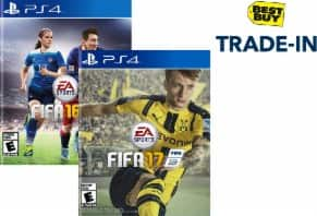 Best Buy Stores: Trade-in FIFA 16 (PS4 or Xbox One) for Minimum $15 Gift Card (+ $10 coupon off FIFA 17)