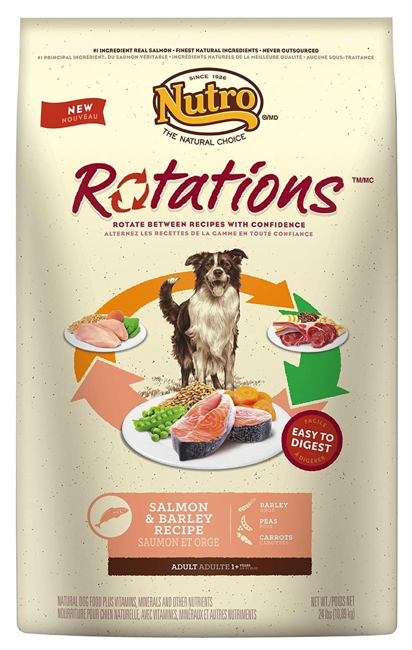 NUTRO Rotations Adult Dry Dog Food - Salmon and Barley 24LB - $25 after S&S and 15% off