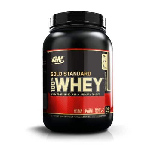 Optimum Nutrition 100% Whey Gold Standard, Double Rich Chocolate 2 lbs - $18.41 - Amazon