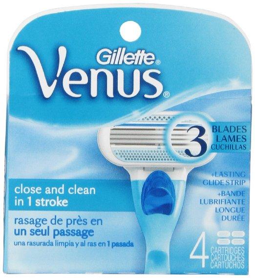 4-Count Gillette Venus Women's Razor Blade Refills - As Low As $3.53 - Amazon S&S