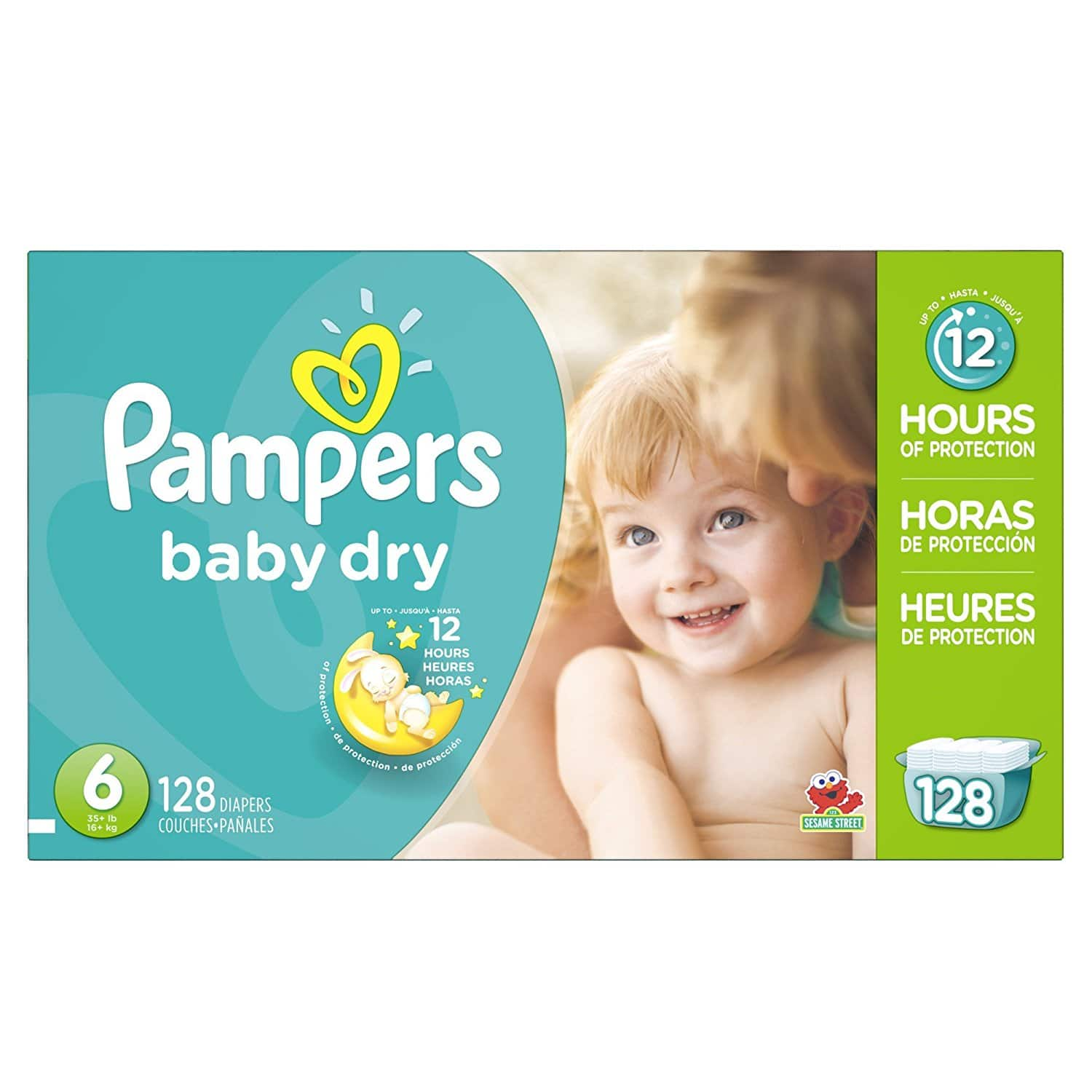 Pampers Baby Dry Diapers Economy Pack Plus, Size 6, 128 Count $25.18 @Amazon + FS w/ prime