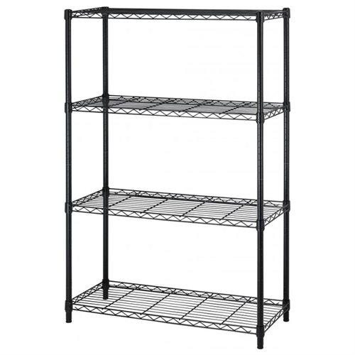 "BestOffice 54"" Steel Wire 4-Tier Metal Shelving Rack (Black)  $27 + Free Shipping"