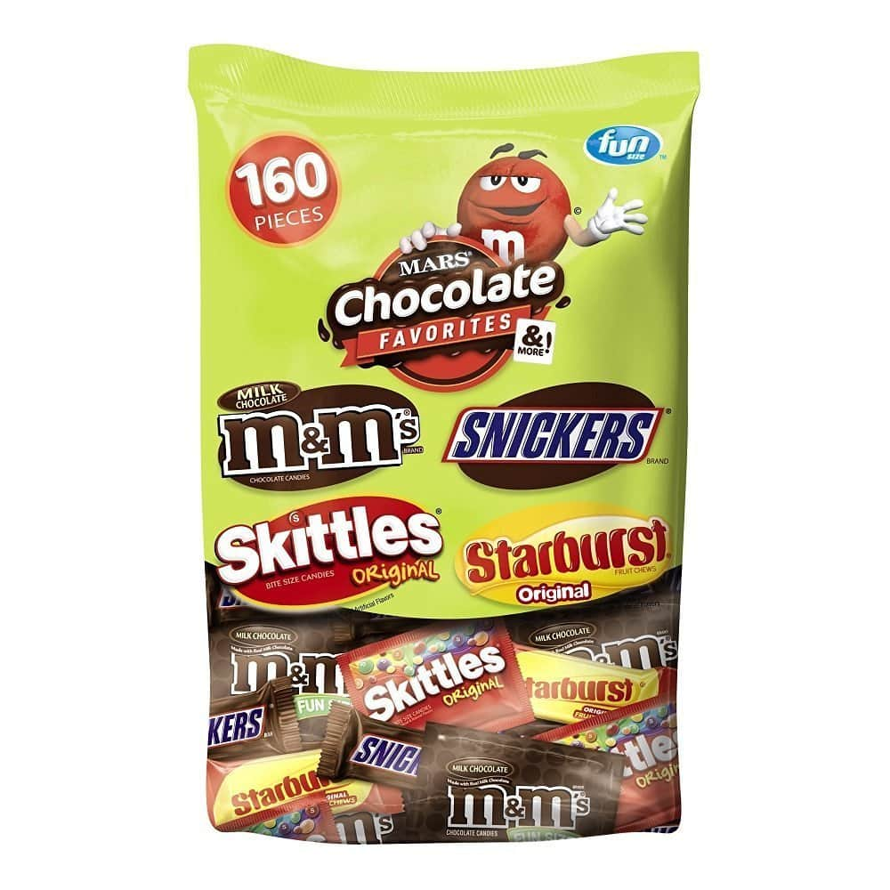 73oz MARS Chocolate and More Favorites Halloween Candy Variety Mix (160-Pieces) $12.38