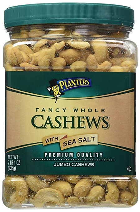 33oz Planters Fancy Whole Cashews w/ Sea Salt  $11.30 + Free Shipping