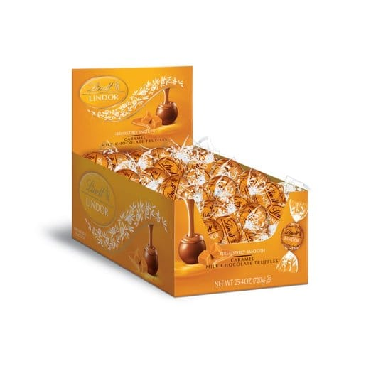 60-Count Lindt Lindor Caramel Milk Chocolate Truffles $12.62 + free shipping w/ prime