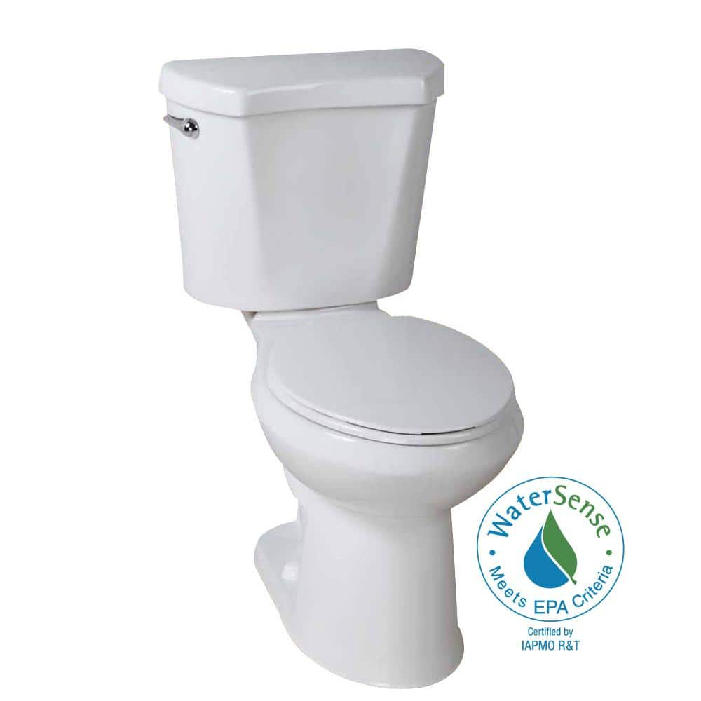 Glacier Bay 2-Piece 1.28 GPF High Efficiency Round Toilet (White ...