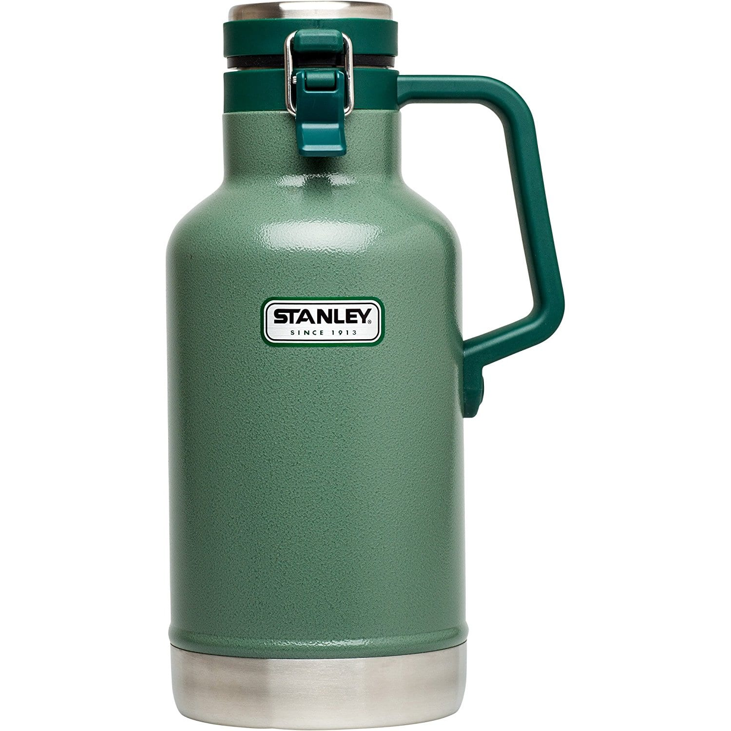 Stanley 64oz Vacuum Insulated Stainless Steel Growler (Hammertone Green) $14.55