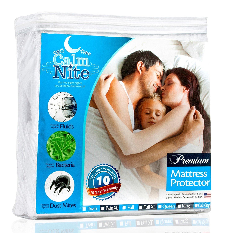 CalmNite Premium Waterproof Mattress Pad Protector various sizes