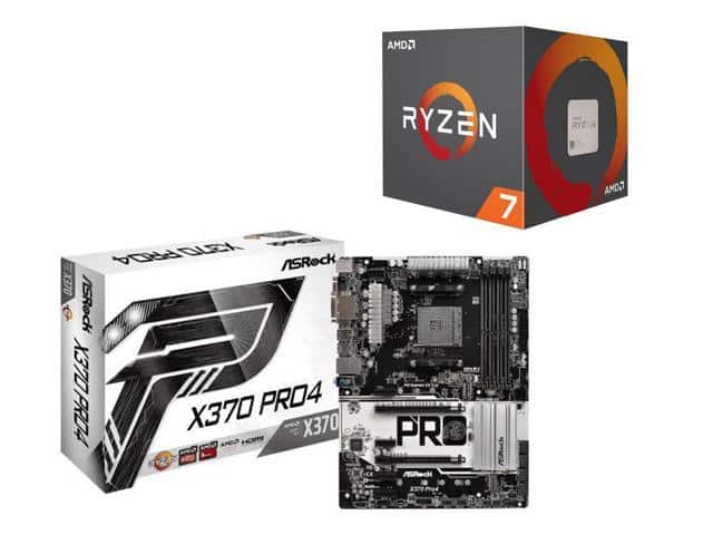 AMD Ryzen 7 1700 8-Core Processor + ASRock X370 PRO4 AM4 ATX