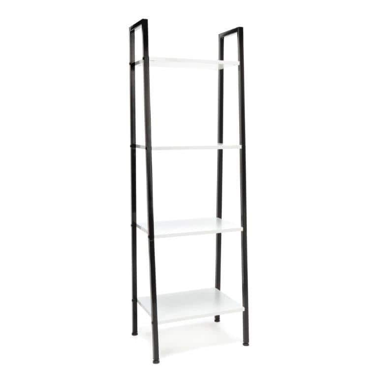 OFM Essentials 4 Shelf Free Standing Ladder Bookshelf Various