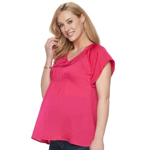 0af7758dec9 Kohl s Cardholders  Maternity a glow Textured Satin Top (various ...