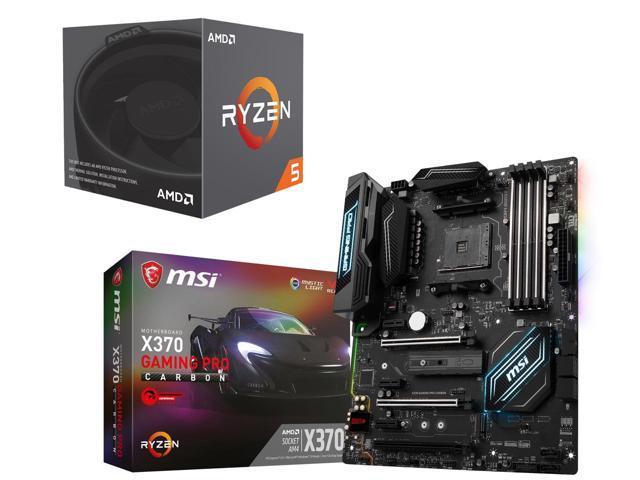 AMD Ryzen 5 2600 6-Core CPU + MSI X370 Gaming Pro Carbon MB + $36 GC