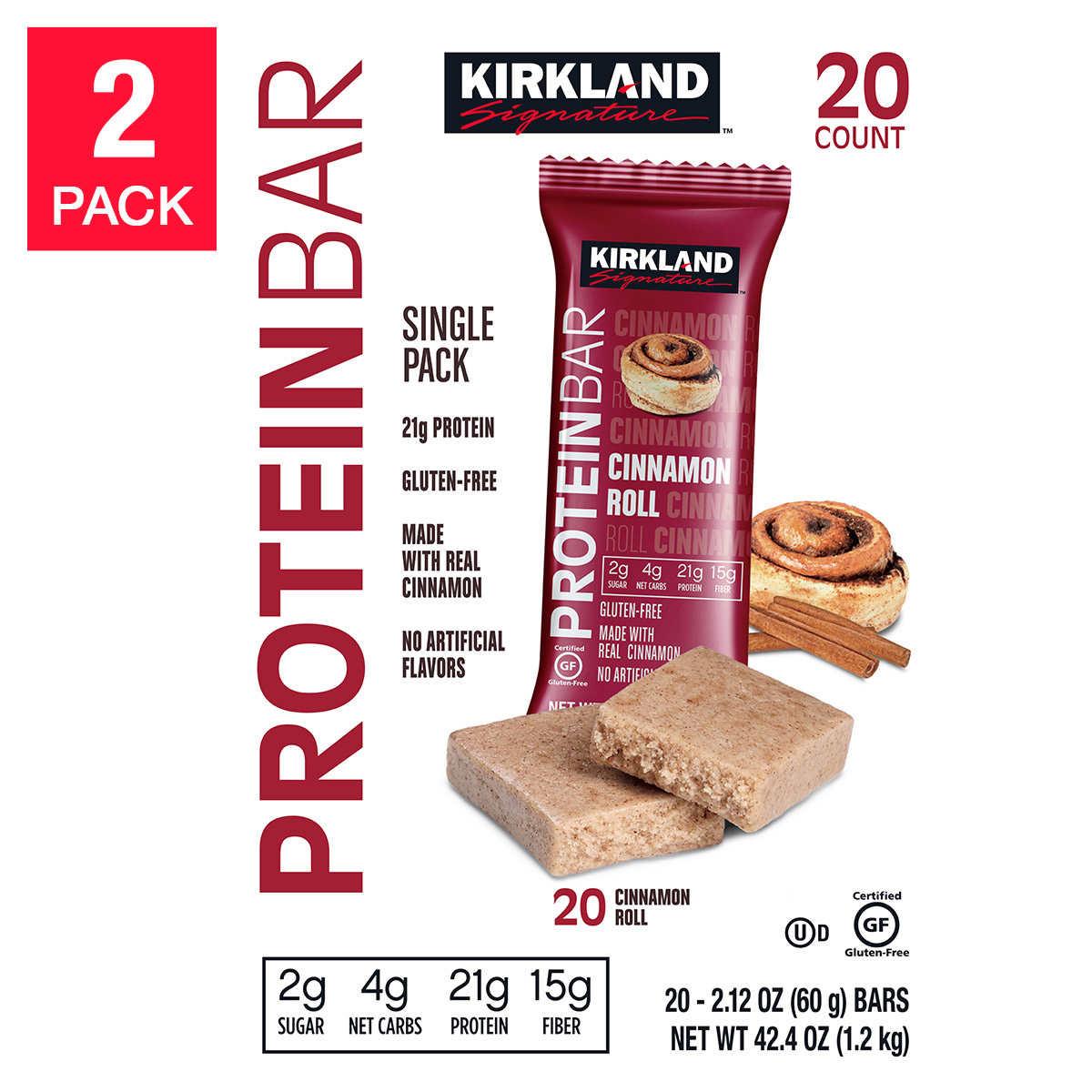 5a89d21d8b54 Costco Members  40-Ct Kirkland Signature Protein Bars (Cinnamon Roll ...