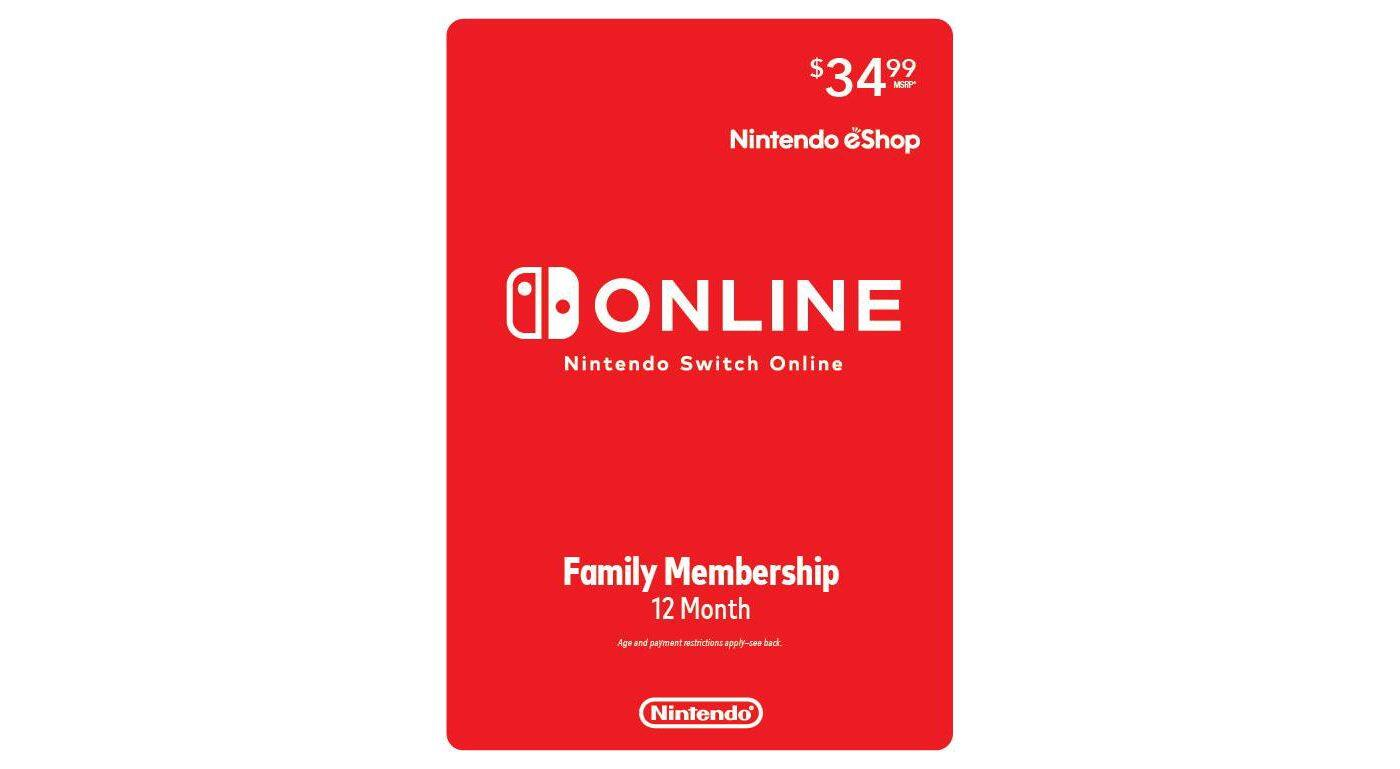 12-Month Nintendo Switch Online Family Membership (Email Delivery) $28 or $26.60 w/ REDcard