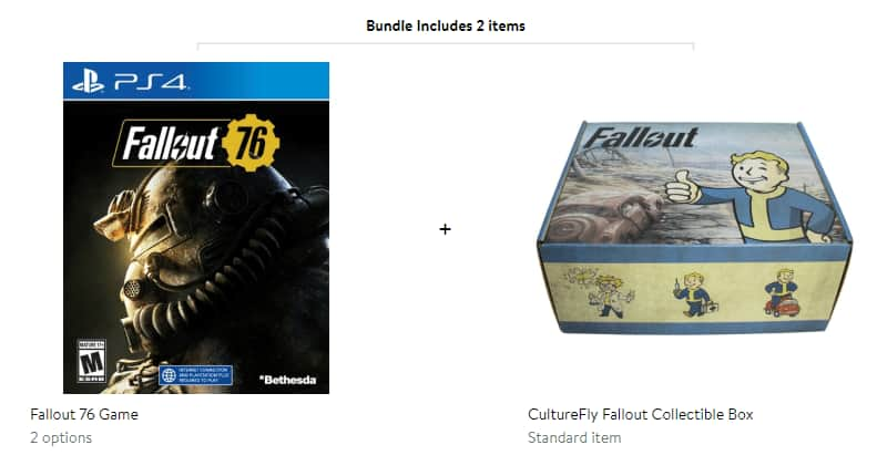 Fallout 76 game and collectors box PS4 or Xbox one $17