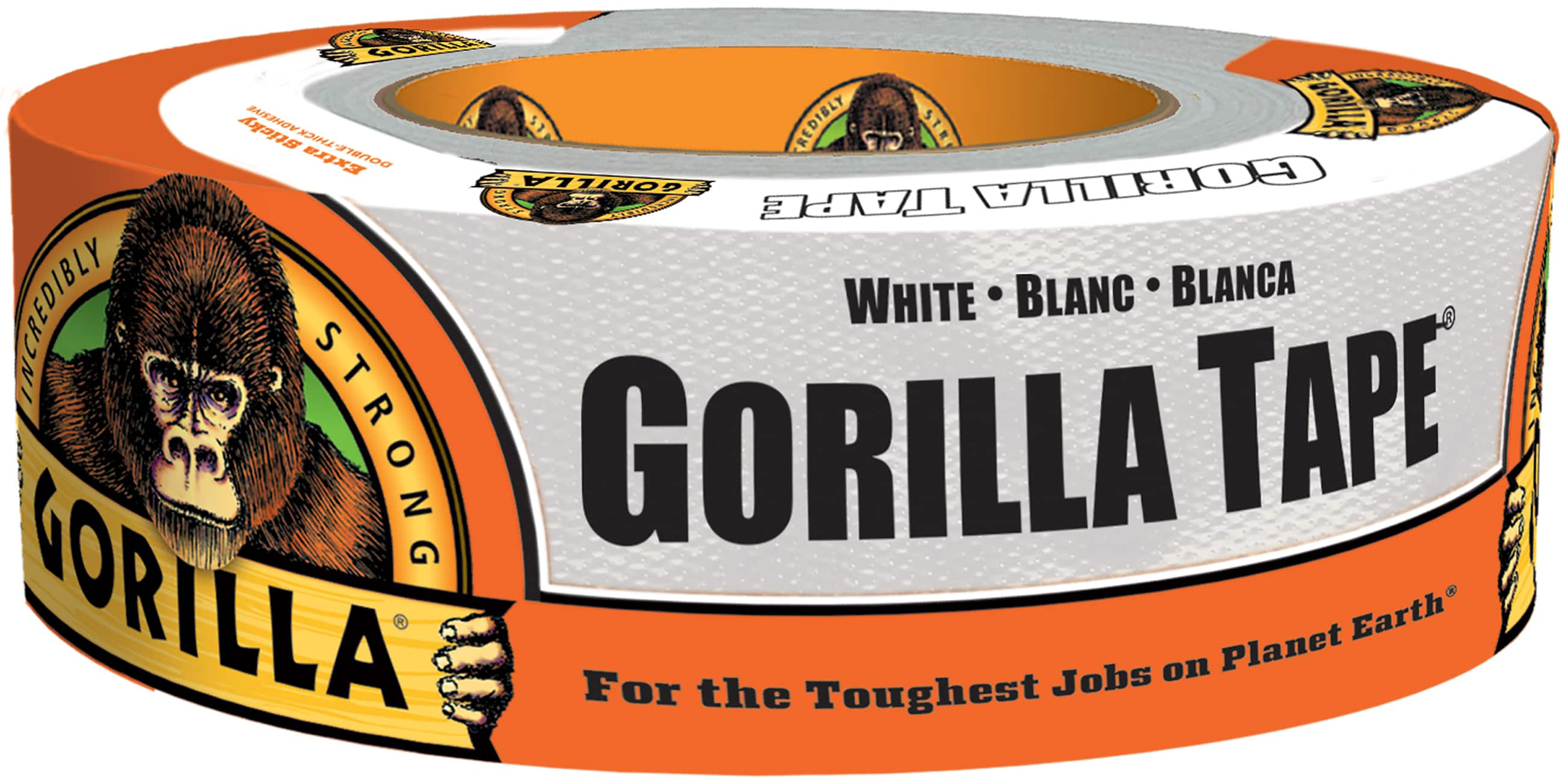 """Gorilla Tape, White Duct Tape, 1.88"""" x 30 yd $4.23 at Amazon free shipping w/prime limit 1"""