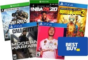 Spend $99+ in Xbox One/PS4 Games, Get $25 Best Buy Gift Card Free + Free Shipping