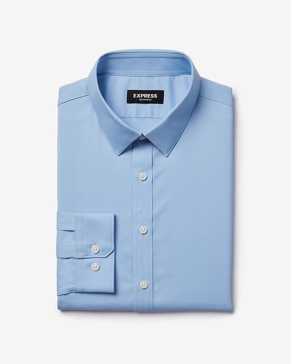 Express Final Sale: Mens Extra Slim Wrinkle-Resistant Performance Dress Shirt