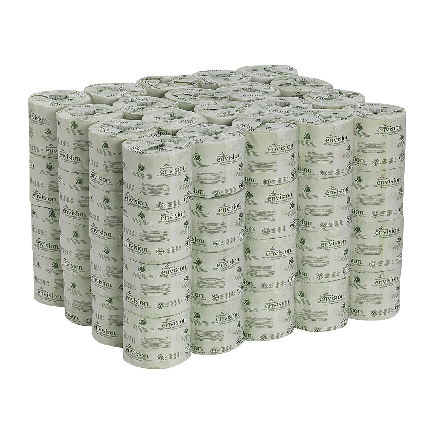 80 Rolls Georgia Pacific Envision 2 Ply Embossed Toilet Paper