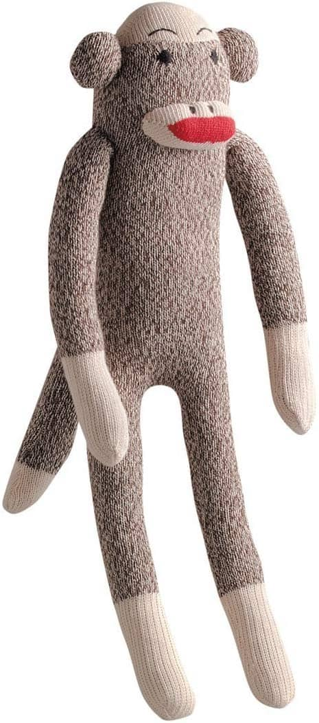 Multipet Plush Sock Monkey Dog Toy