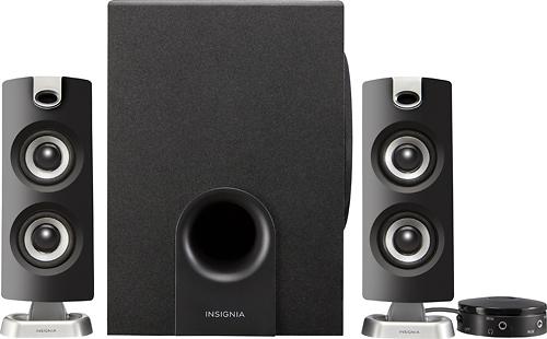 Insignia™ - 2.1 Bluetooth Speaker System (3-Piece) - Black - $30.99 @Bestbuy