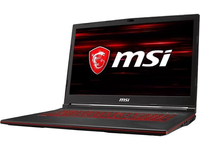 "$749 after rebate = MSI GL73 9SC-027 17"", Intel Core i7 9th Gen 9750H, NVIDIA GeForce GTX 1650 (4 GB), 16 GB of RAM Memory, 512 GB NVMe SSD, Windows 10 Home, Gaming Laptop"