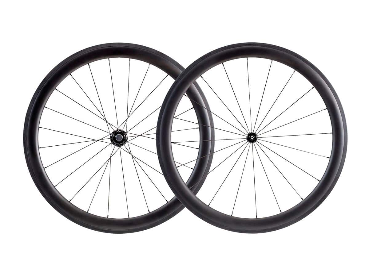 50mm Carbon Clincher Wheelset featuring Sapim CX-Ray Spokes (Open Box) $310