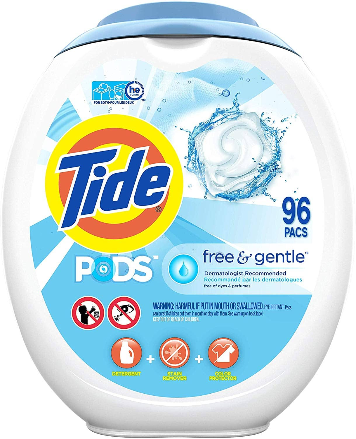 96 Count Tide PODS Free and Gentle Laundry Detergent - $14.27 - after $3.95 coupon and 15% s&s, $16.42 w/5% s&s
