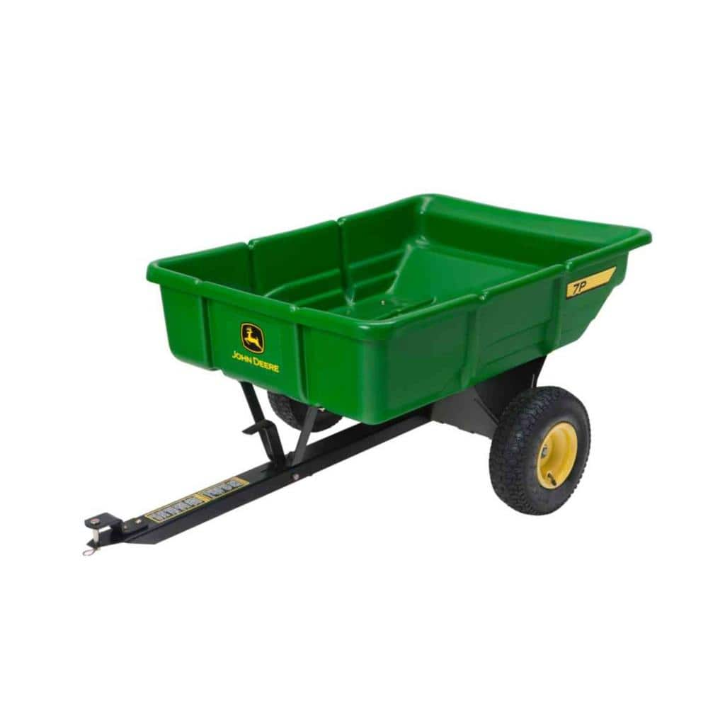 Home Depot has a John Deere 450 lb, 7.0 cu ft tow-behind utility cart on clearance for $49