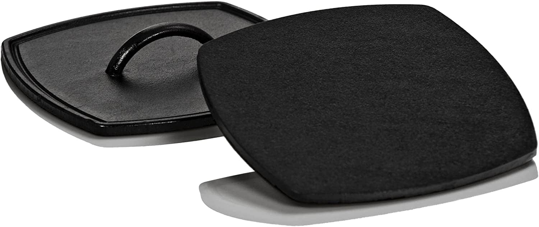 Lodge (cast iron) Flat Iron Grill Press  Black 8.25 inch, $11 Amazon Prime